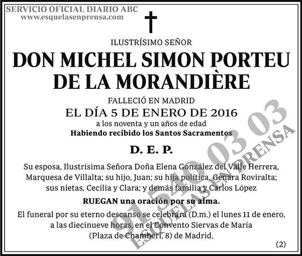 Michel Simon Porteu de la Morandière